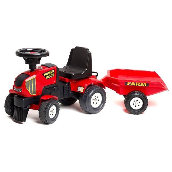 Traktor guralica s prikolicom crveni Falk 1013B