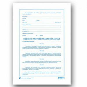 Ugovor o praktičnoj nastavi, Obrazac XI-4-123/P