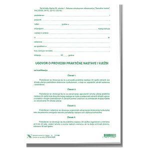 UGOVOR O PROVEDBI PRAKTIČNE NASTAVE I VJEŽBI XI-4-142/P