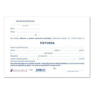 Uvjerenje/Potvrda za školu XI-10-36 (dječji doplatak)