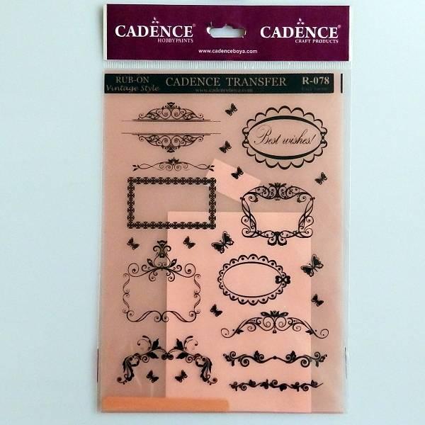 Vintage Style Hobby Transfer Papir 17 x 25cm Cadence