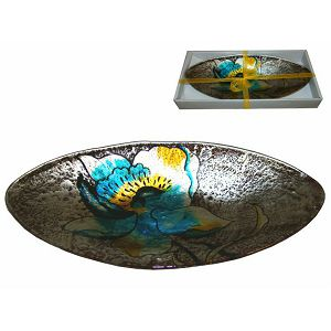 Zdjela staklo dekorativna u poklon kutiji 33,5×16,5×4cm