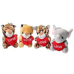 ŽIVOTINJA PLIŠ Animal Savana sa srcem Love 14cm Dino Trading 305666
