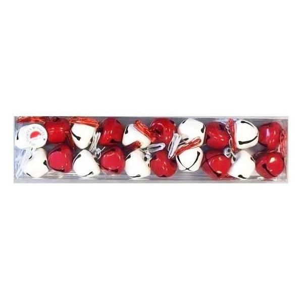 Zvončići set crvenobijeli 2 cm