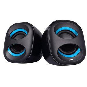 ZVUČNICI MS VERSA crni/plavi za računalo, USB, 6W, 20Hz-18Hz