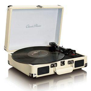 ZVUČNIK LENCO TT-11, bluetooth, bijeli, gramofon retro izgled