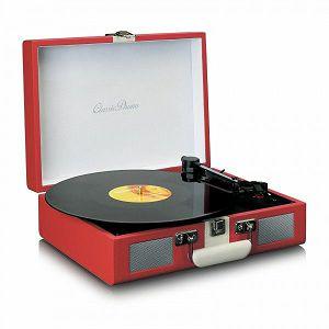 ZVUČNIK LENCO TT-110, bluetooth, crveni/bijeli, gramofon retro izgled
